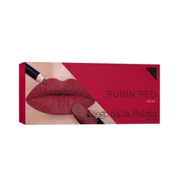 Lip Kit Cofanetto Make-Up labbra-Rubin red