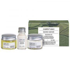 Set completo per la cura della pelle firmato Sacred Nature